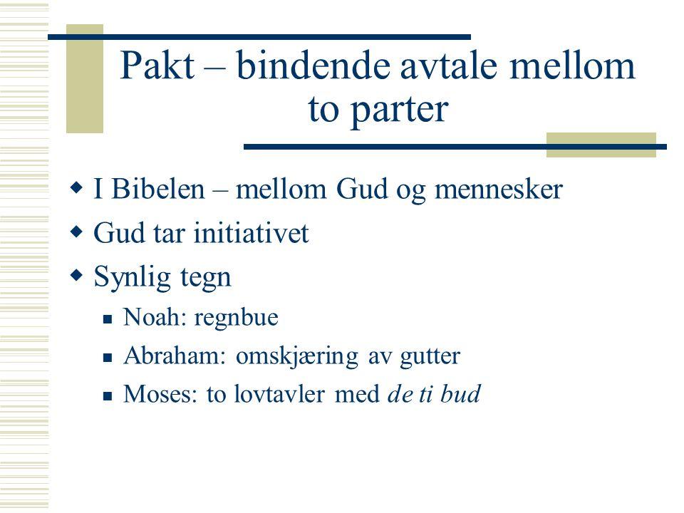 Pakt – bindende avtale mellom to parter