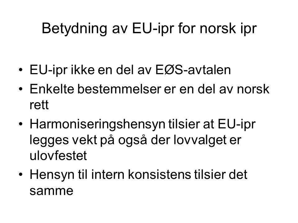 Betydning av EU-ipr for norsk ipr