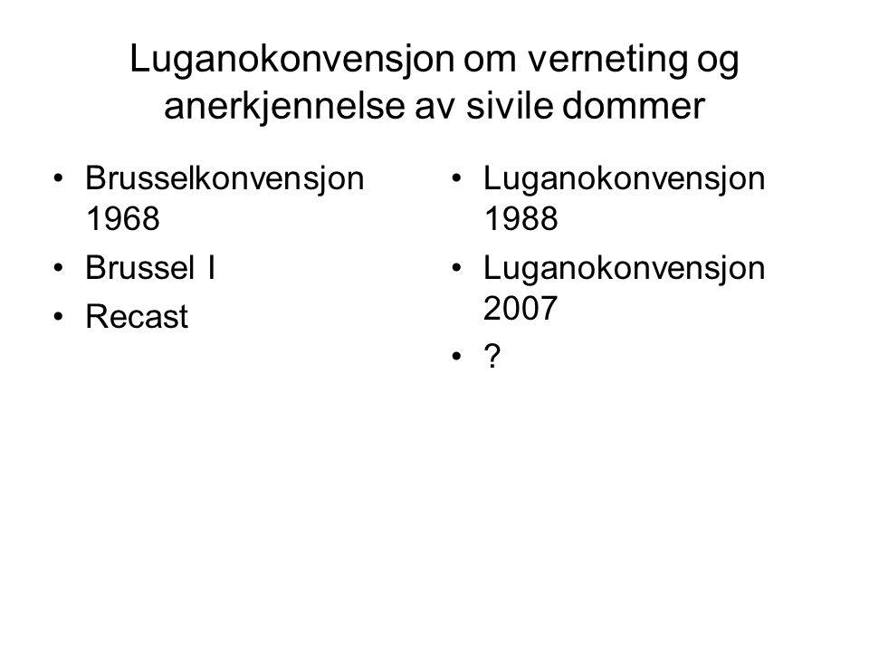 Luganokonvensjon om verneting og anerkjennelse av sivile dommer