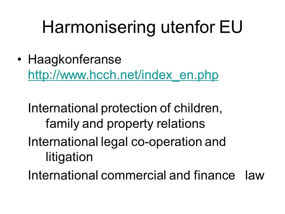 Harmonisering utenfor EU