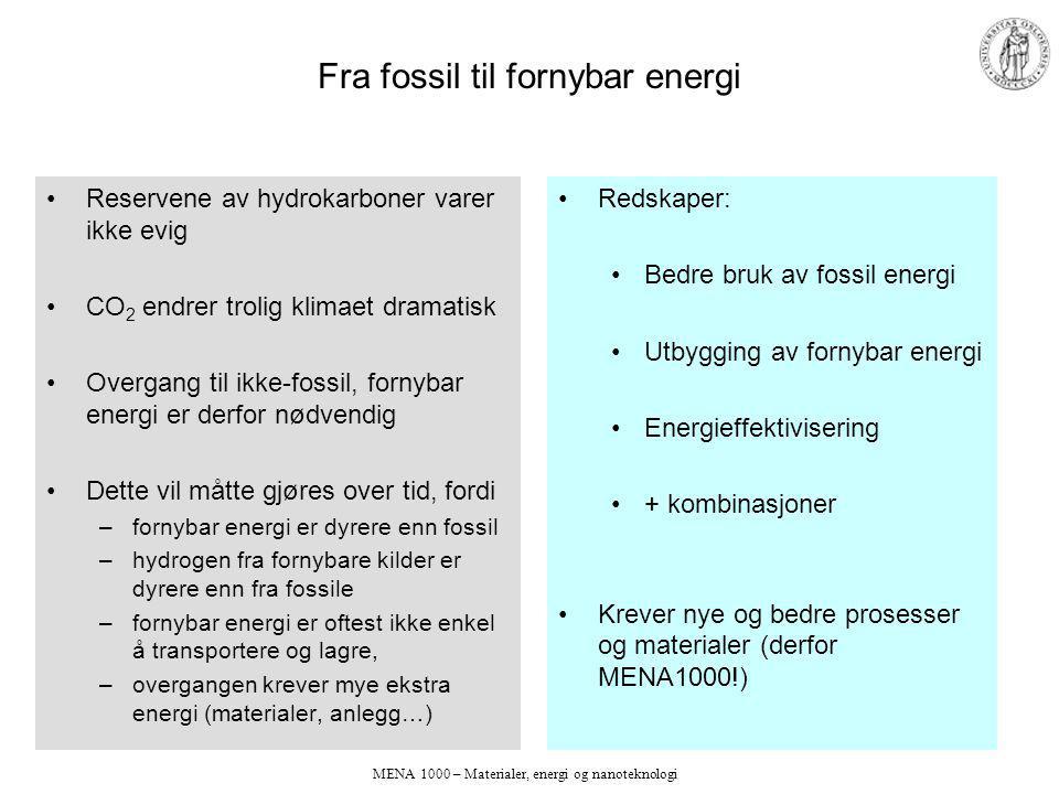 Fra fossil til fornybar energi