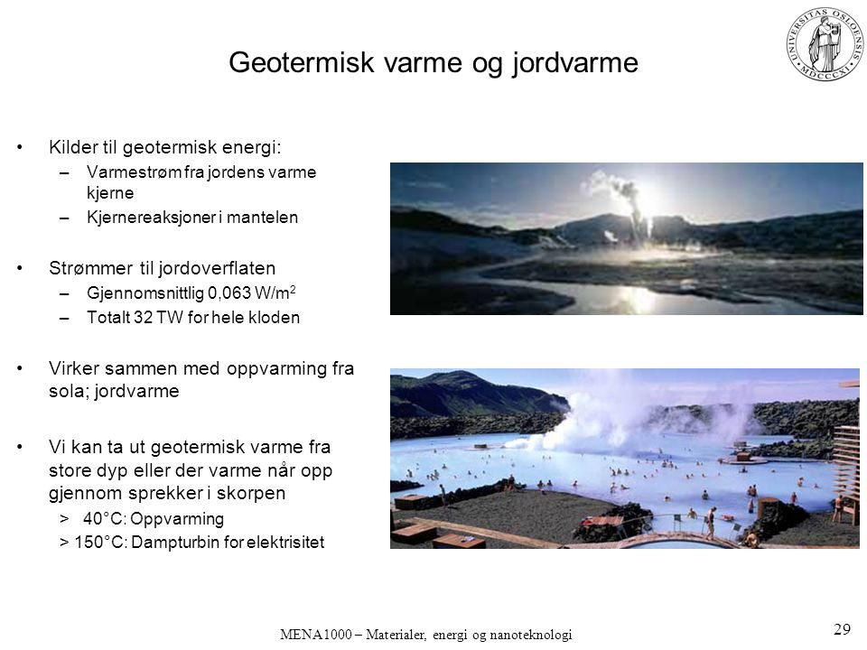 Geotermisk varme og jordvarme