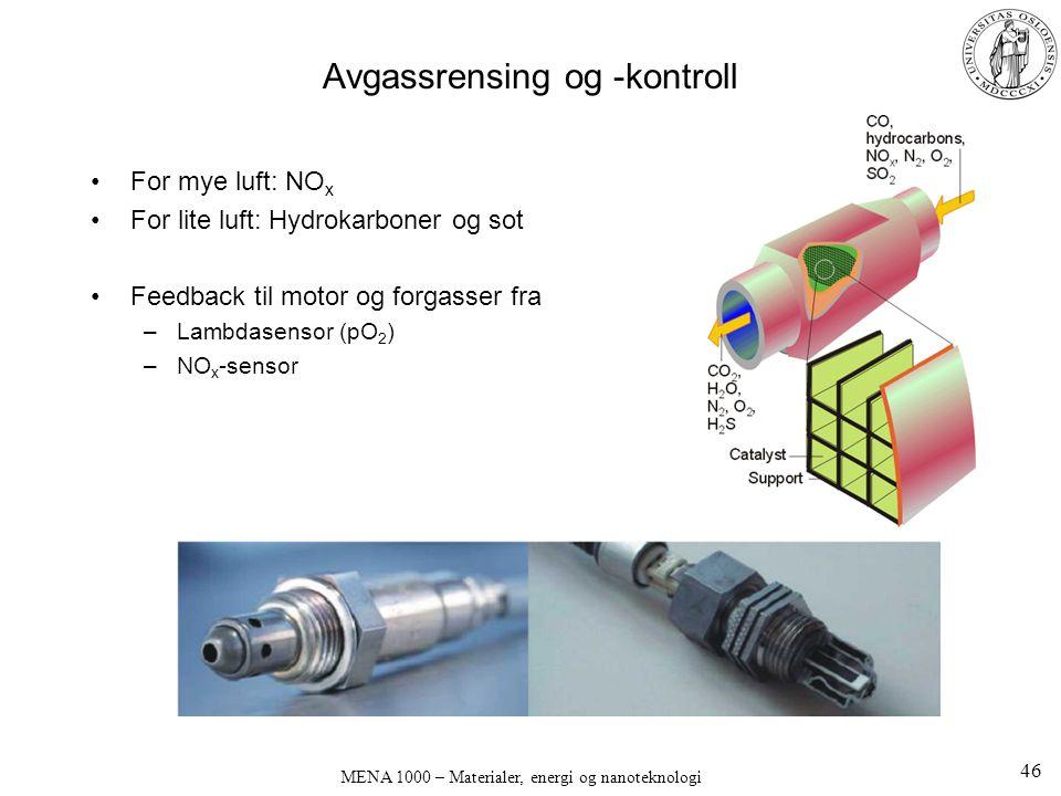 Avgassrensing og -kontroll