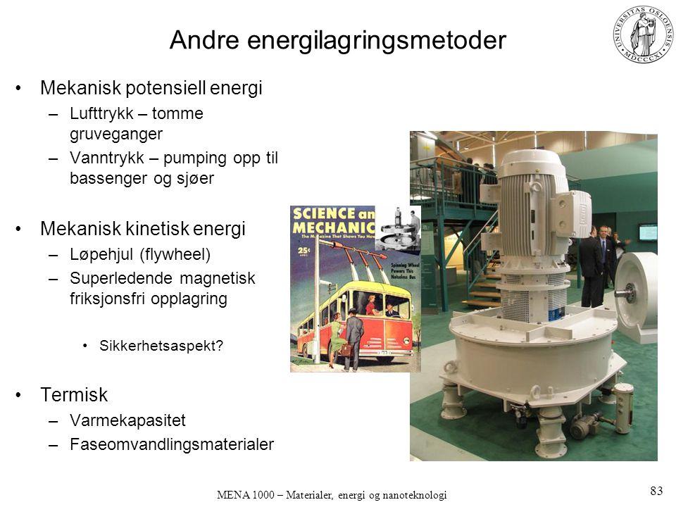Andre energilagringsmetoder