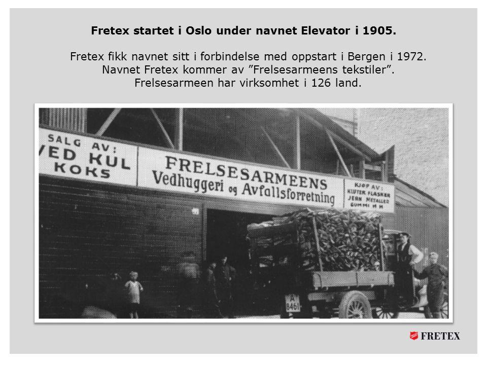 Fretex startet i Oslo under navnet Elevator i 1905