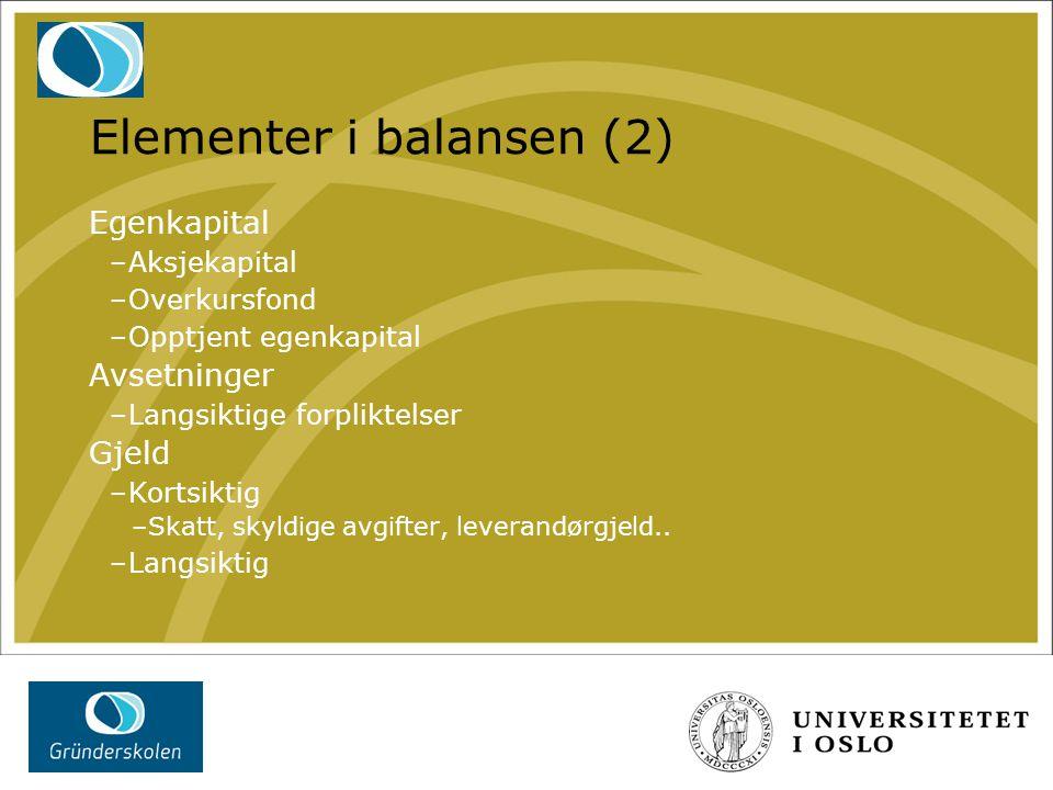 Elementer i balansen (2)