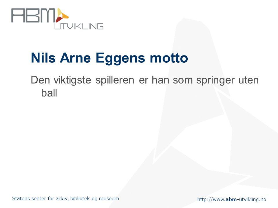 Nils Arne Eggens motto Den viktigste spilleren er han som springer uten ball