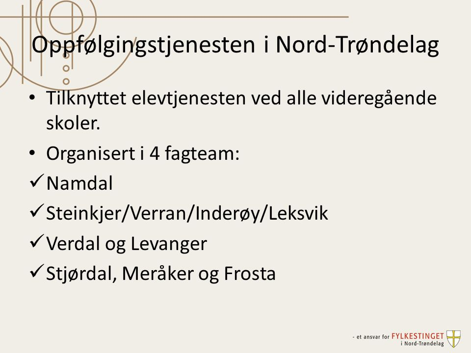 Oppfølgingstjenesten i Nord-Trøndelag