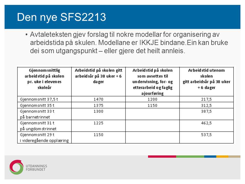 Den nye SFS2213