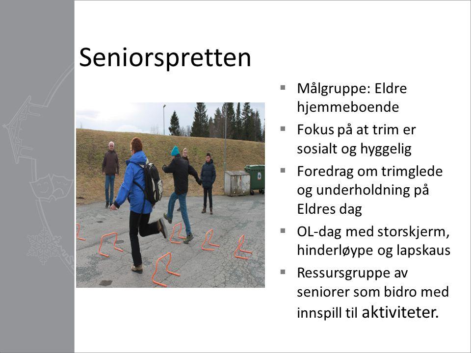Seniorspretten Målgruppe: Eldre hjemmeboende