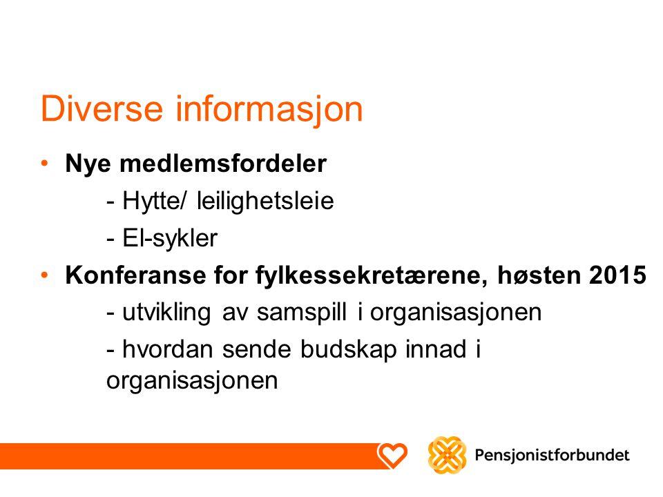 Diverse informasjon Nye medlemsfordeler - Hytte/ leilighetsleie