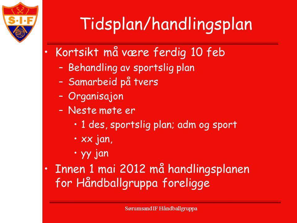 Tidsplan/handlingsplan