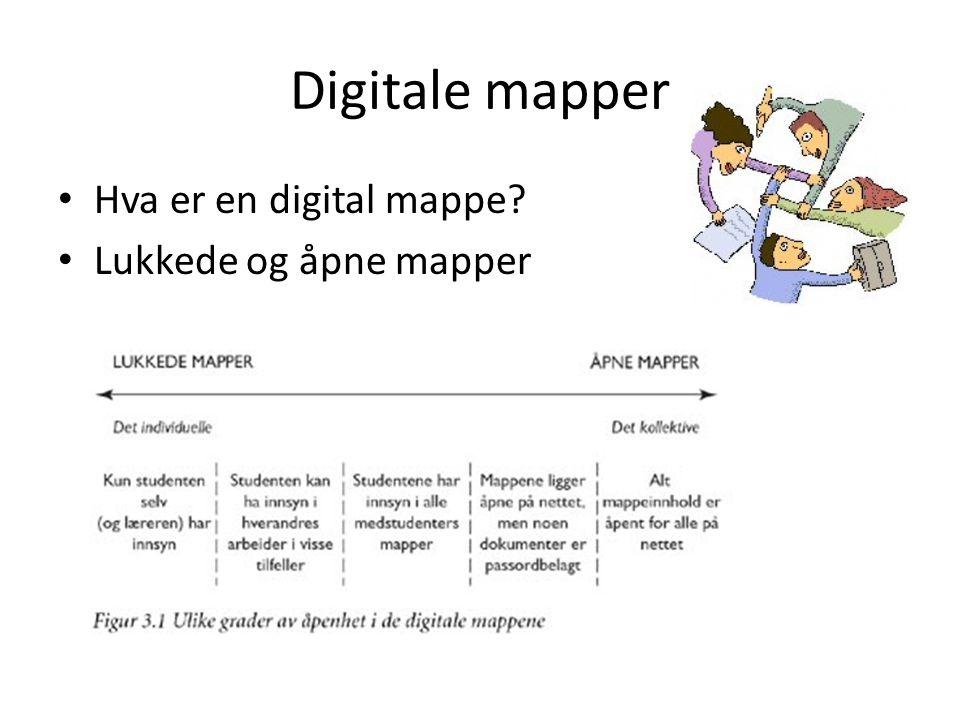 Digitale mapper Hva er en digital mappe Lukkede og åpne mapper