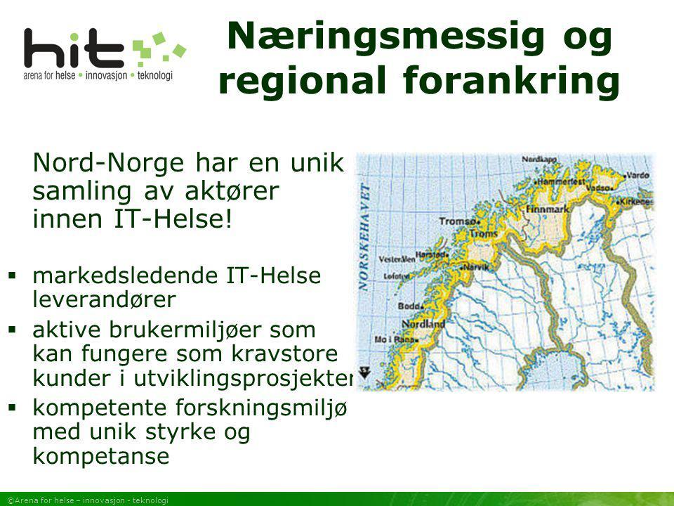 Næringsmessig og regional forankring
