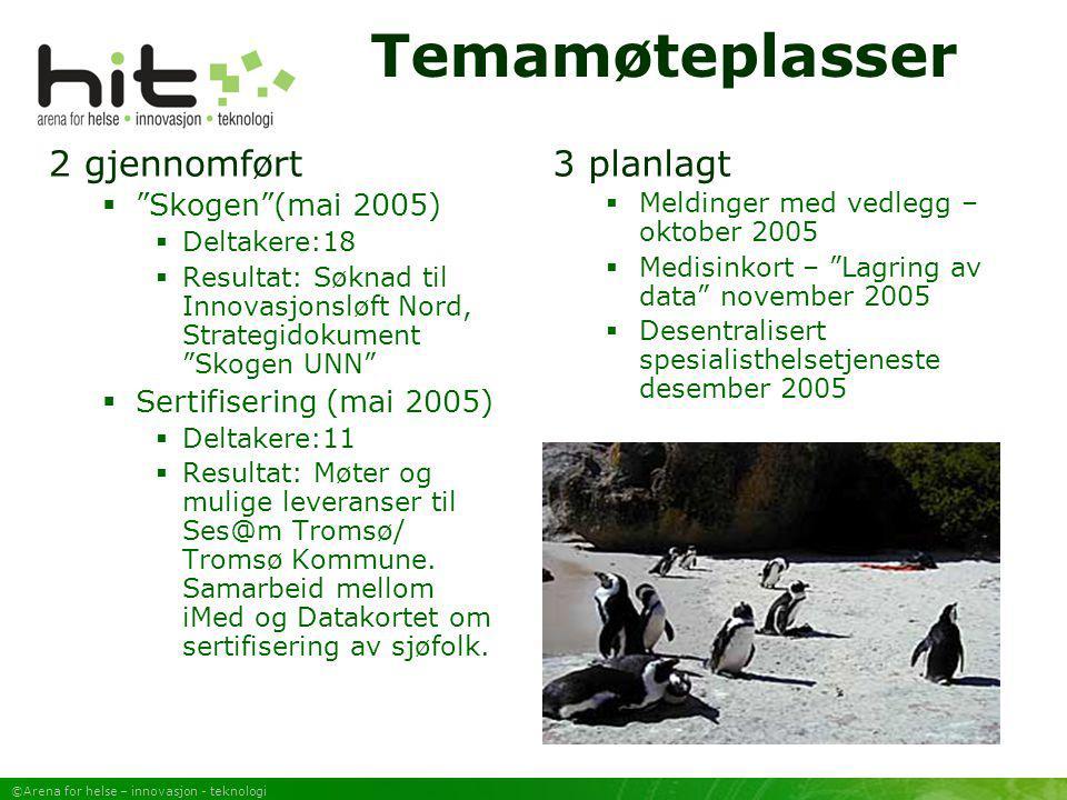 Temamøteplasser 2 gjennomført 3 planlagt Skogen (mai 2005)