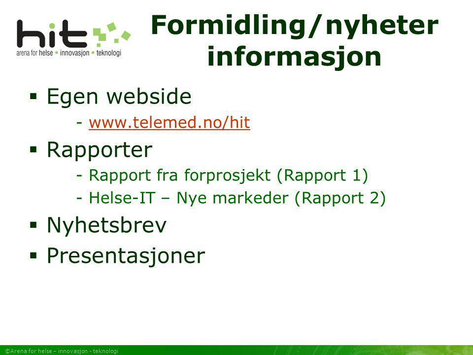 Formidling/nyheter informasjon