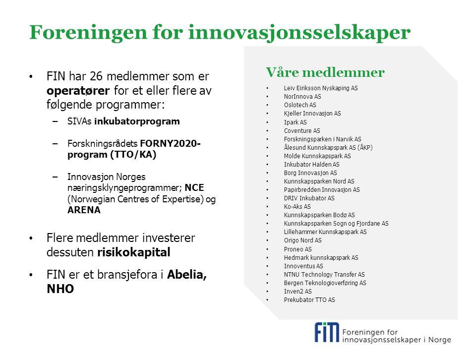 Foreningen for innovasjonsselskaper