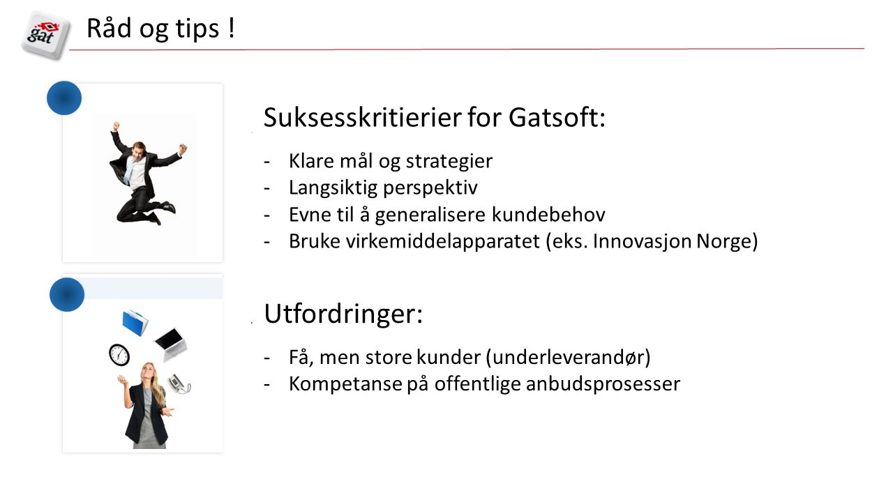Suksesskritierier for Gatsoft:
