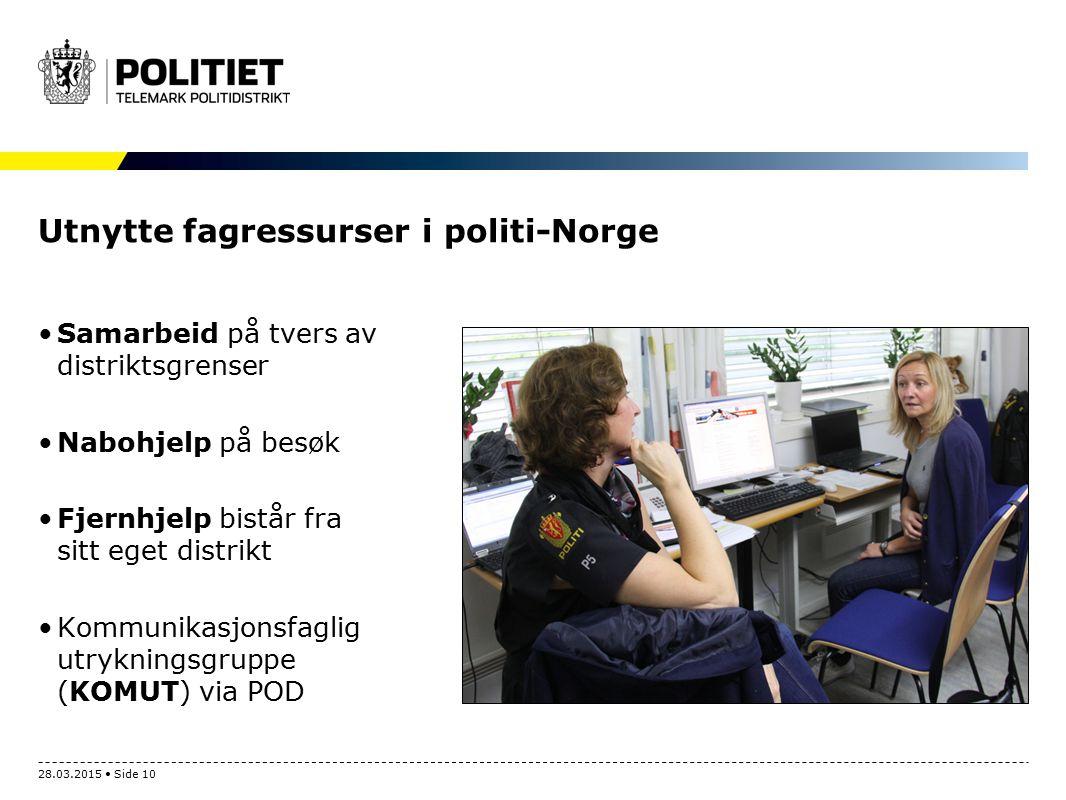 Utnytte fagressurser i politi-Norge