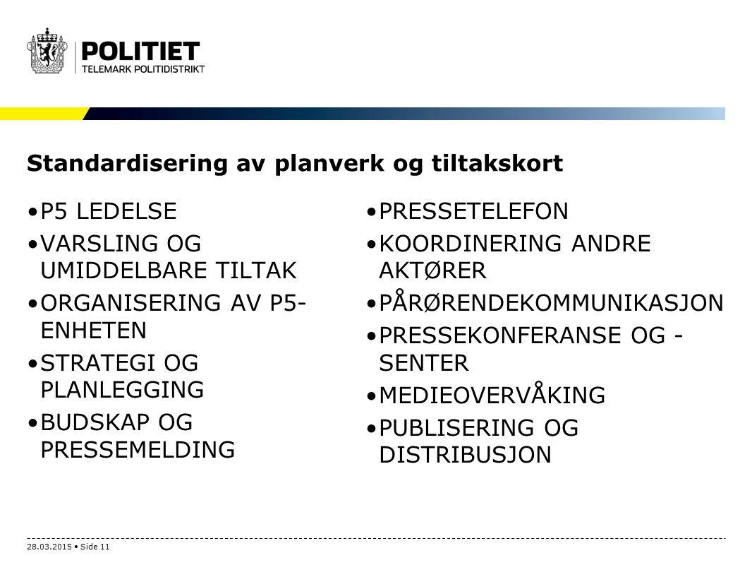 Standardisering av planverk og tiltakskort