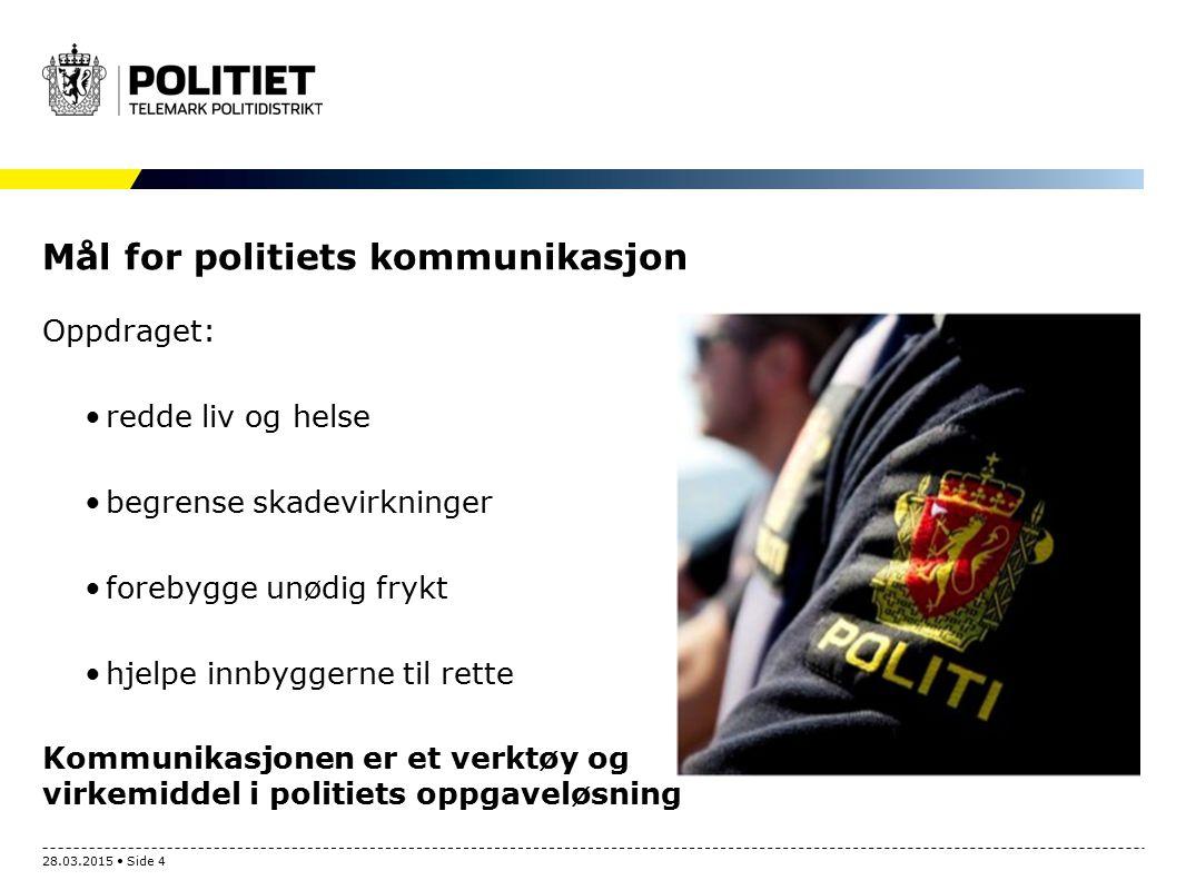Mål for politiets kommunikasjon