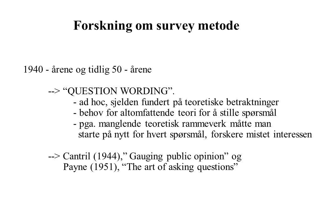 Forskning om survey metode