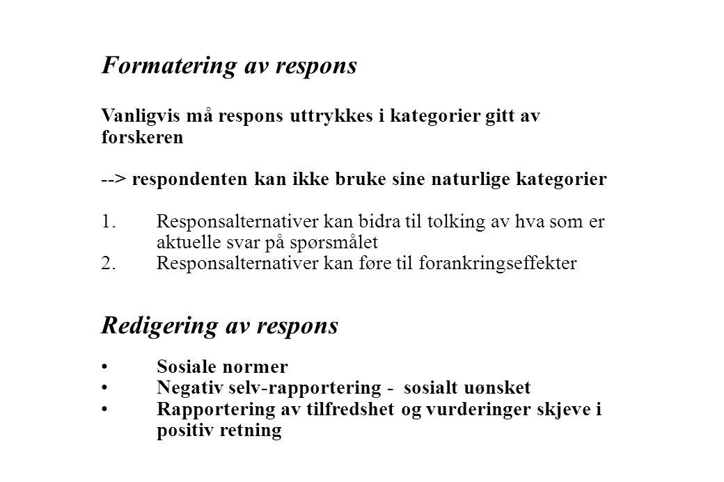 Formatering av respons