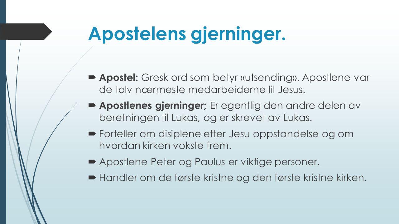 Apostelens gjerninger.