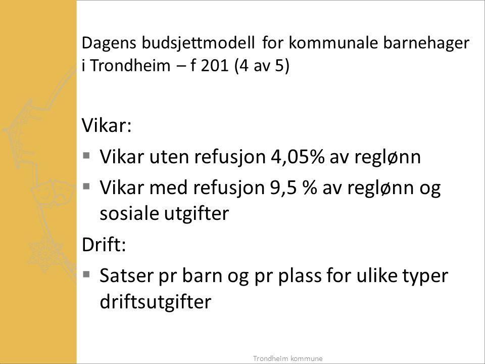 Vikar uten refusjon 4,05% av reglønn