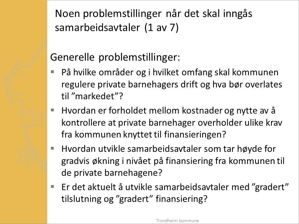 Noen problemstillinger når det skal inngås samarbeidsavtaler (1 av 7)