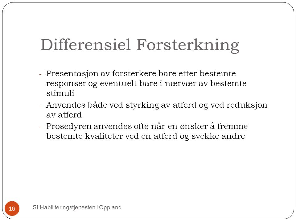 Differensiel Forsterkning