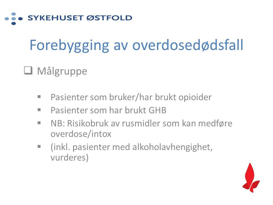 Forebygging av overdosedødsfall
