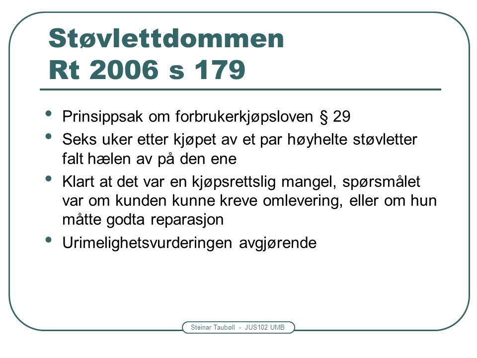 Støvlettdommen Rt 2006 s 179 Prinsippsak om forbrukerkjøpsloven § 29