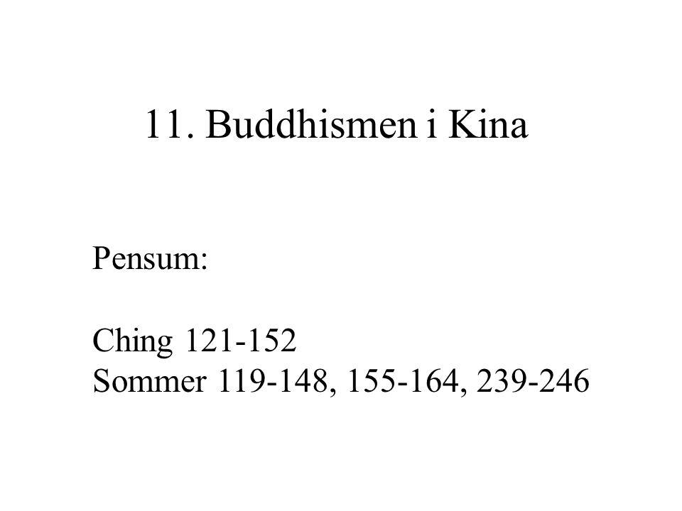 11. Buddhismen i Kina Pensum: Ching 121-152