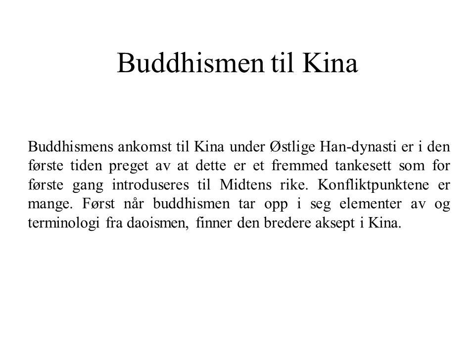 Buddhismen til Kina