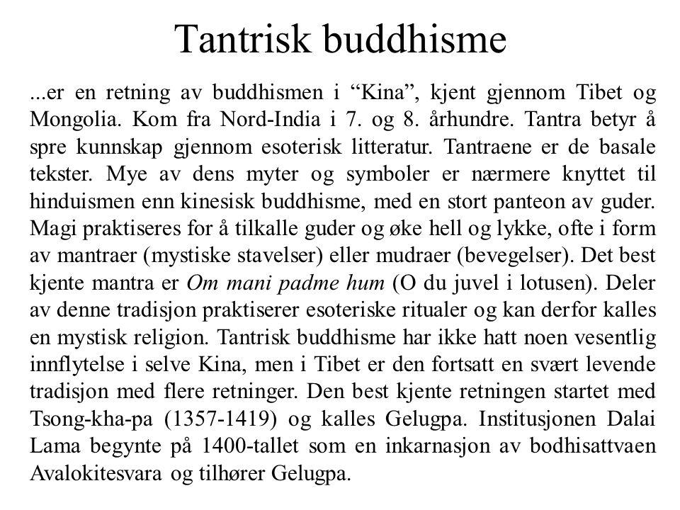 Tantrisk buddhisme
