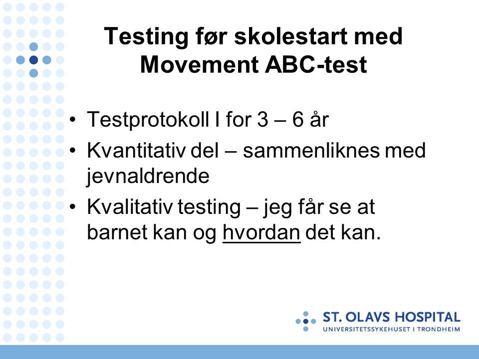 Testing før skolestart med Movement ABC-test