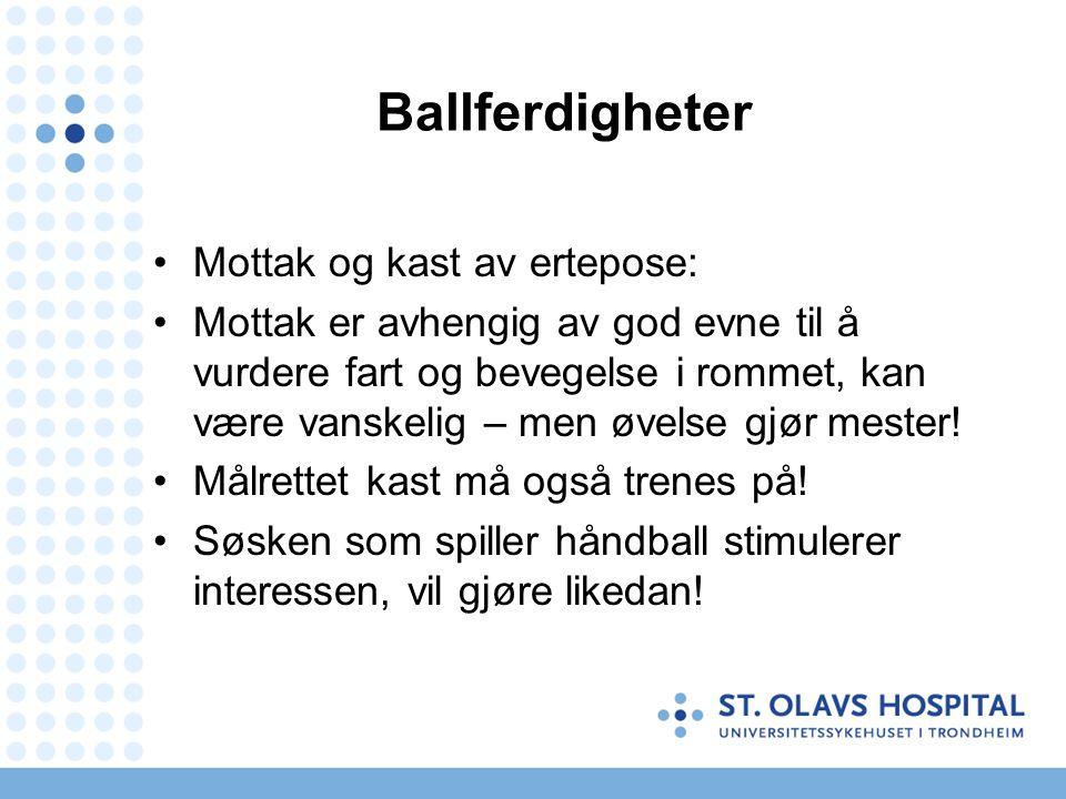 Ballferdigheter Mottak og kast av ertepose:
