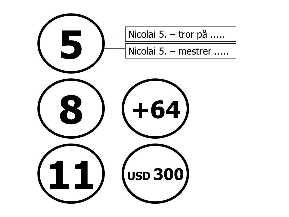 5 Nicolai 5. – tror på ..... Nicolai 5. – mestrer .....