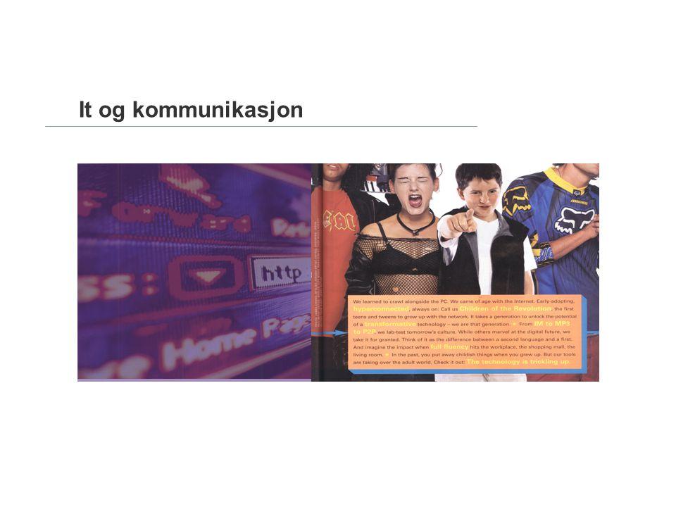It og kommunikasjon Status: Omprofilering hovedkontor Aker Brygge