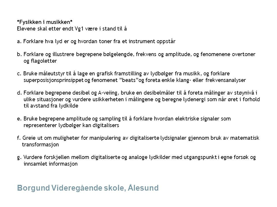 Borgund Videregående skole, Ålesund