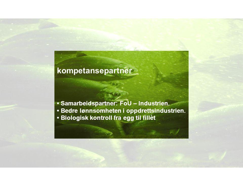 kompetansepartner • Samarbeidspartner: FoU – Industrien.