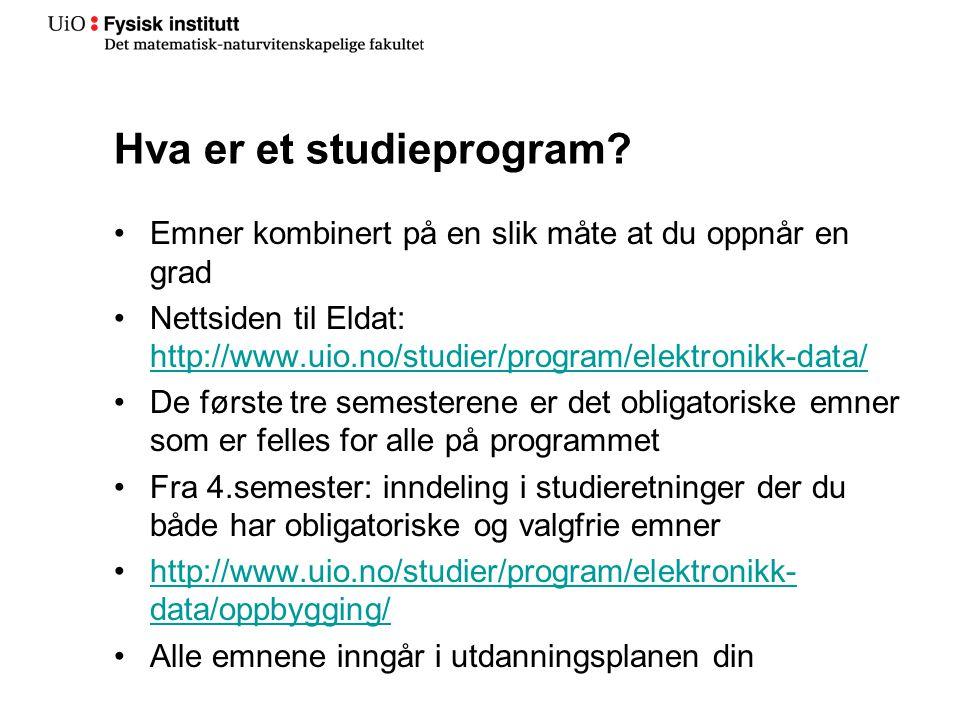 Hva er et studieprogram