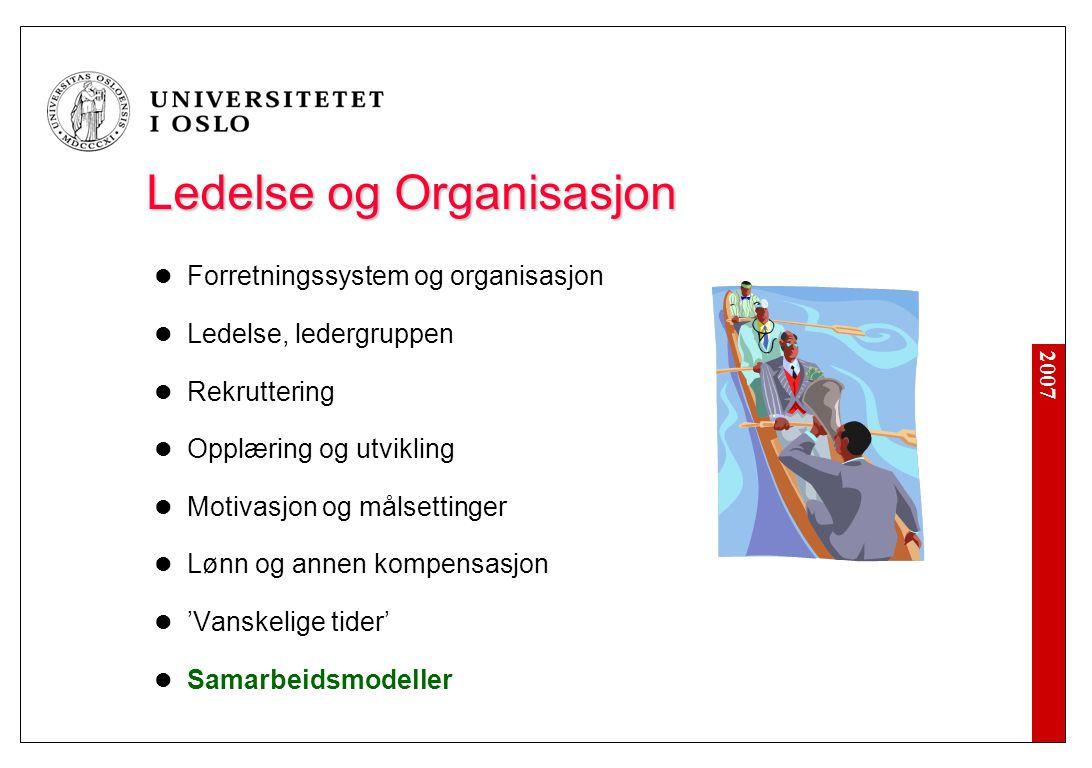 Ledelse og Organisasjon