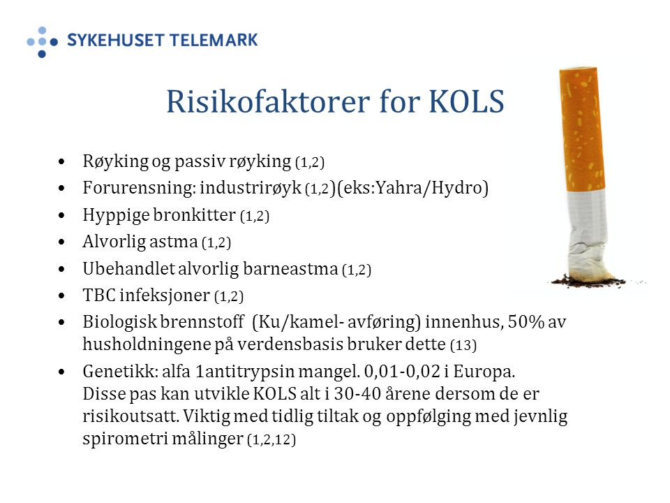 Risikofaktorer for KOLS