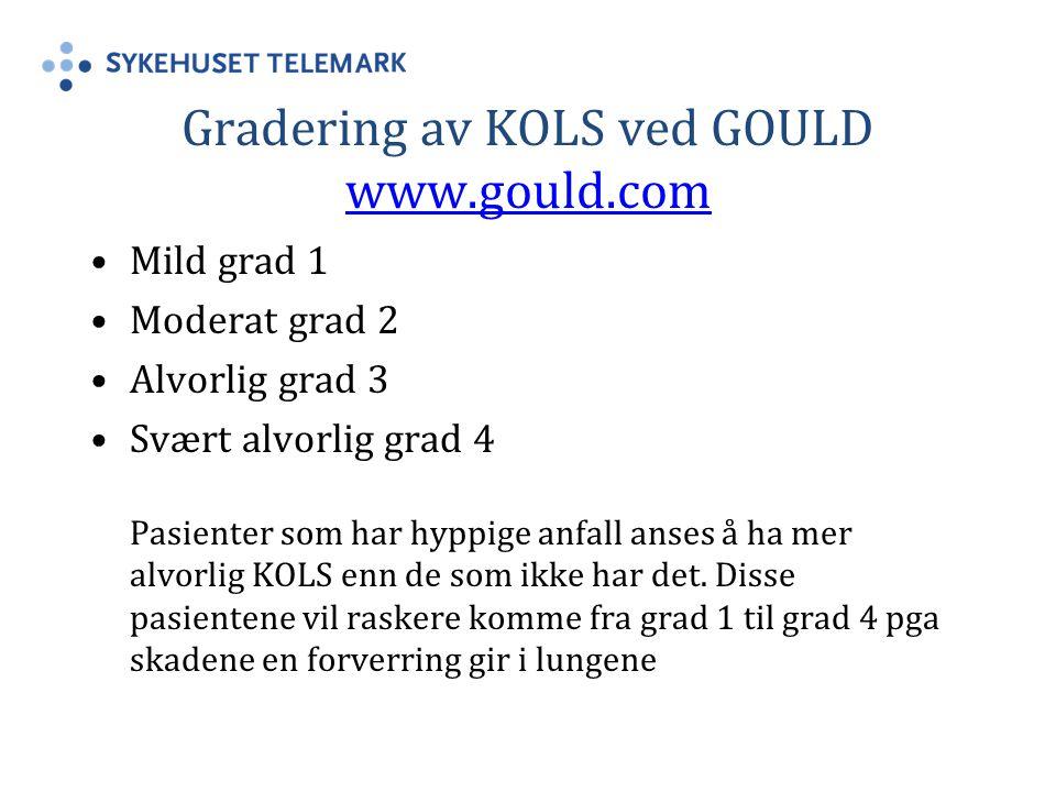 Gradering av KOLS ved GOULD www.gould.com