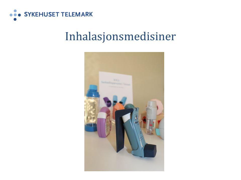 Inhalasjonsmedisiner