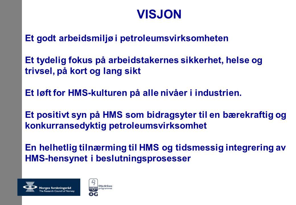 VISJON Et godt arbeidsmiljø i petroleumsvirksomheten