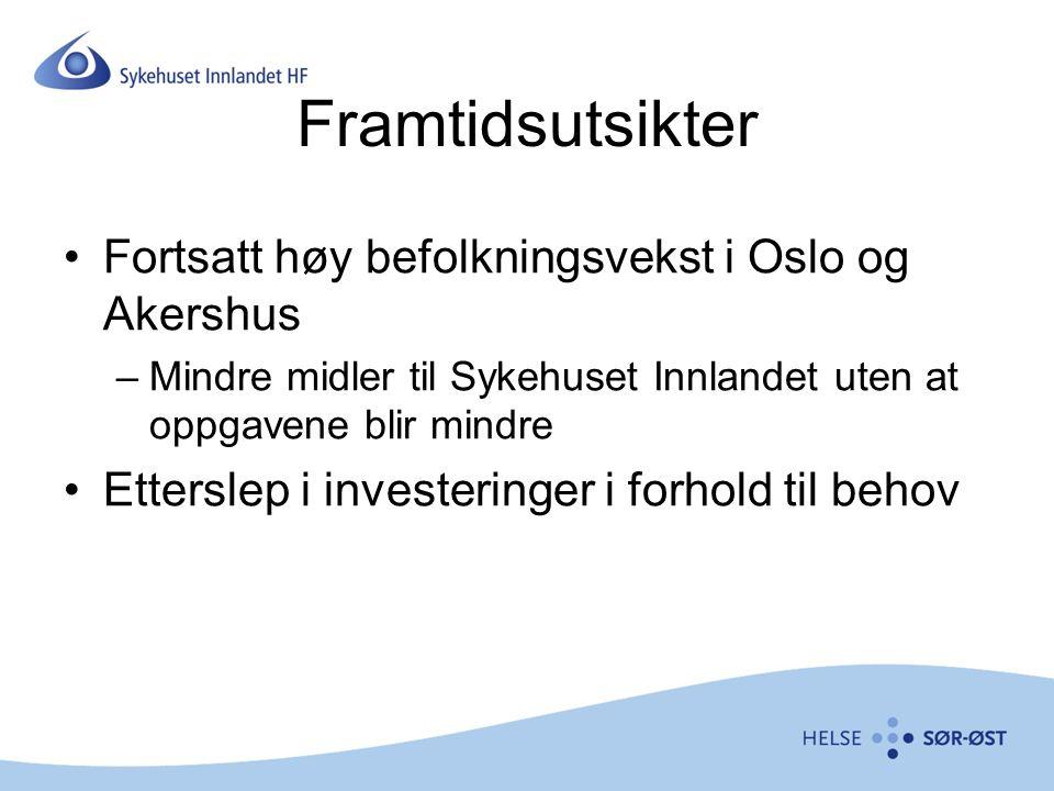 Framtidsutsikter Fortsatt høy befolkningsvekst i Oslo og Akershus