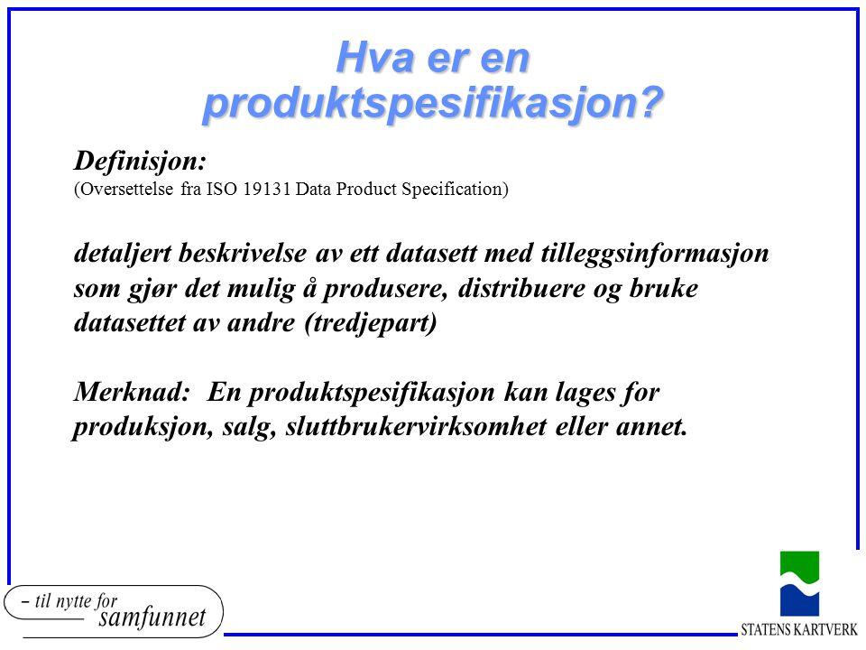 Hva er en produktspesifikasjon